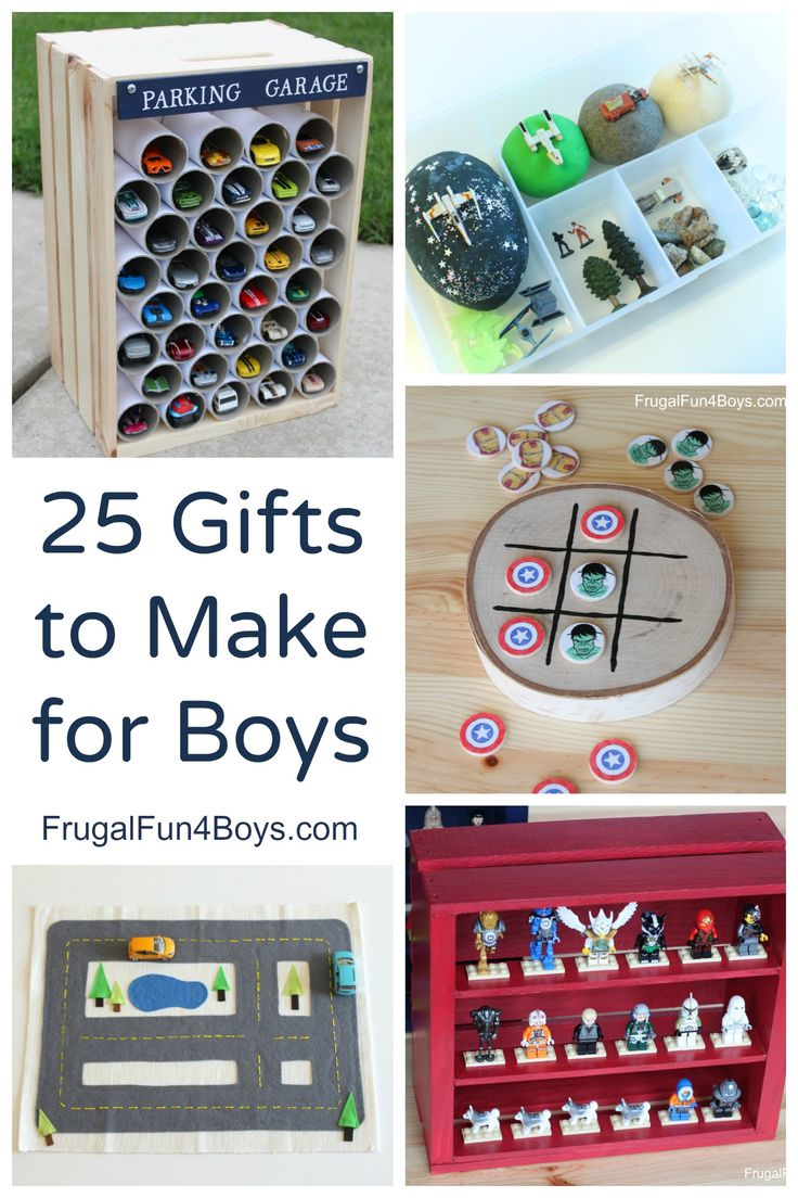 25 Homemade Gifts to make for Boys - Love the ideas here!