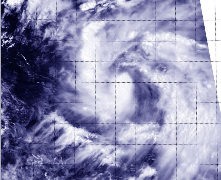 Aqua passed over newborn Phanfone on Sept. 29 and captured a picture of the storm that showed thunderstorms wrapped tightly around the storm's center.