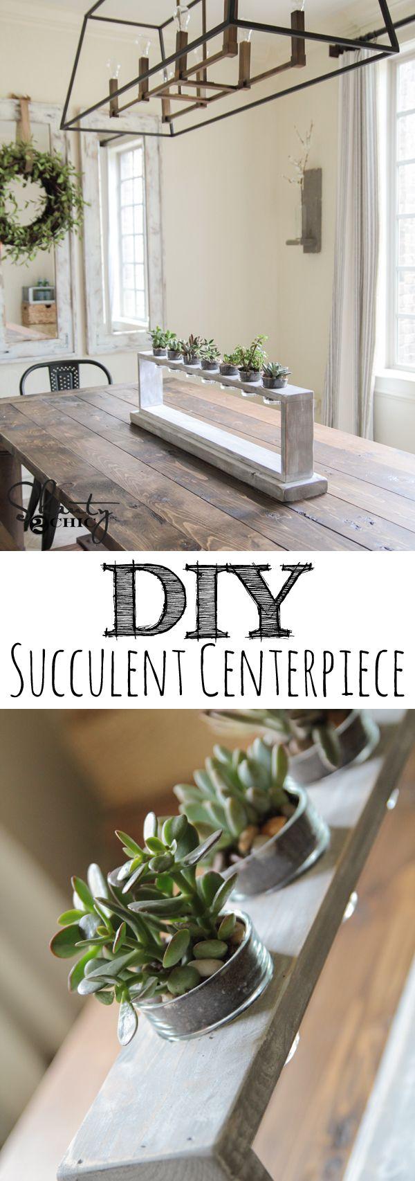 DIY Succulent Centerpiece Tutorial... So cute and easy! www.shanty-2-chic.com