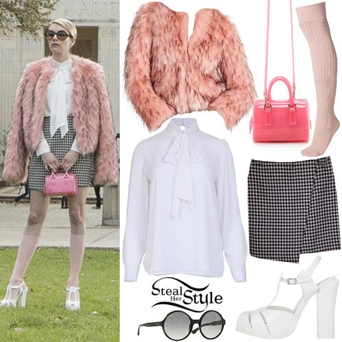 """Emma Roberts: """"Scream Queens"""" Episode 1 Outfits   Steal Her Style"""
