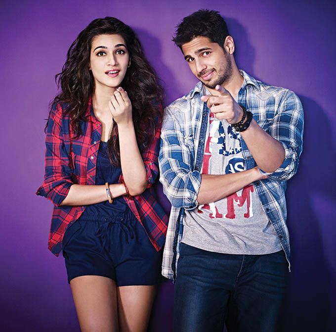 Kriti Sanon with Sidharth Malhotra in a photoshoot. #Bollywood #Fashion #Style #Beauty #Hot #Sexy