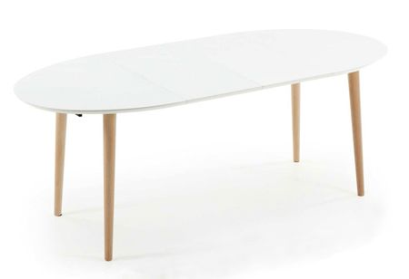 Oakland 120-200 Extension Dining Table in White