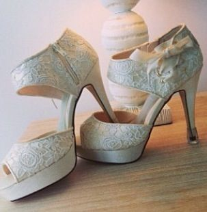 Brides Shoes. Featuring The Vases.