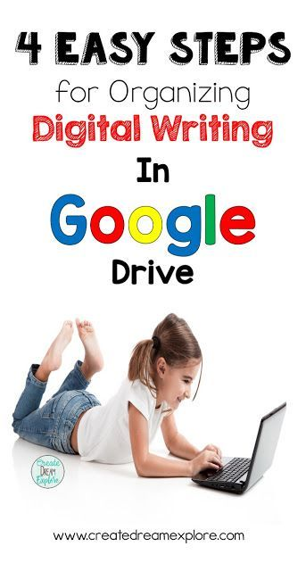 4 Easy Steps to Keep Digital Writing Organized in Google Drive. Student folders can get messy, this is a great way to keep their Google Drive writing folders organized - Create Dream Explore