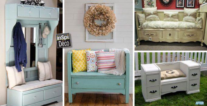 Transformer un vieux meuble en un superbe divan! Voici 20 idées créatives…