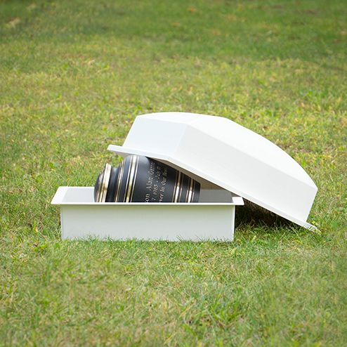 Basic Urn Vault Single White | Urn Vaults - Burial Vaults