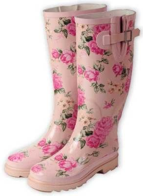 Pink rose boots!