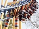 Flamingo Land Theme Park and Zoo at Malton, North York Moors. Spectacular rides and a world famous zoo