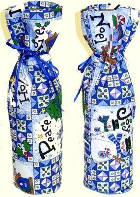 Pattern & Instructions on how to sew a wine bag . . . great gift idea for the person who has everything!