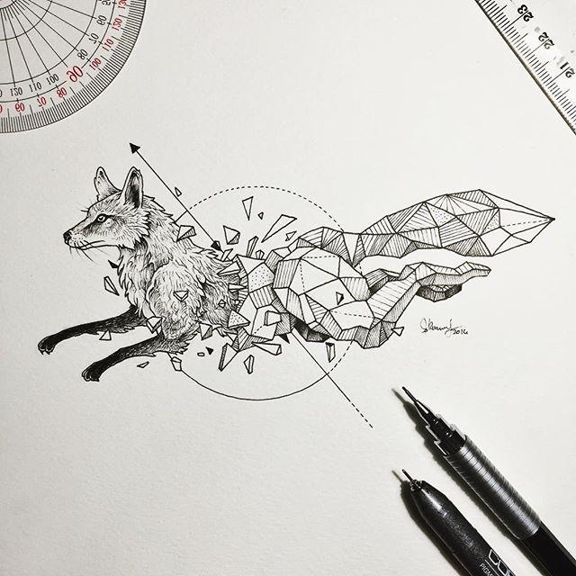 Kicking off a new series. Geometric Beasts | Fox