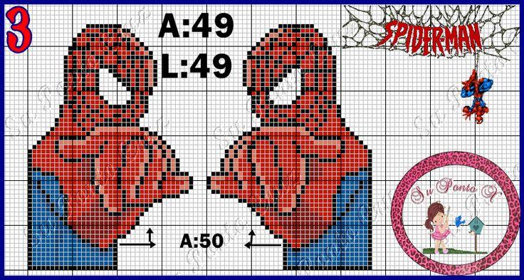 Spiderman x-stitch