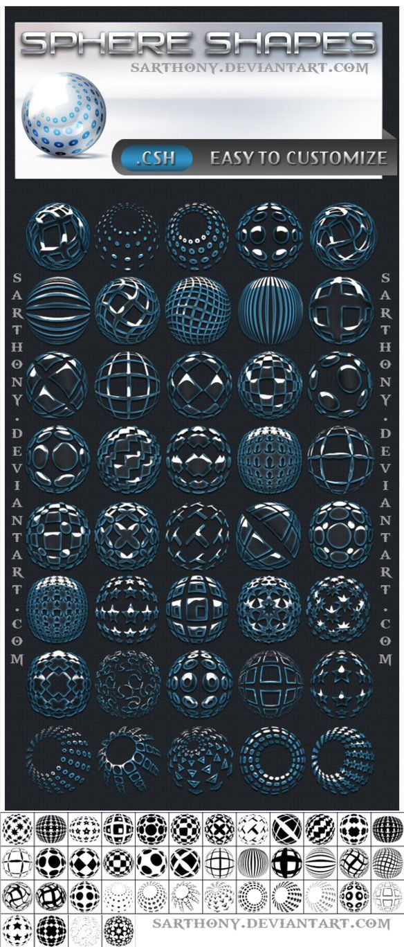 Sphere Shapes by ~sarthony on deviantART