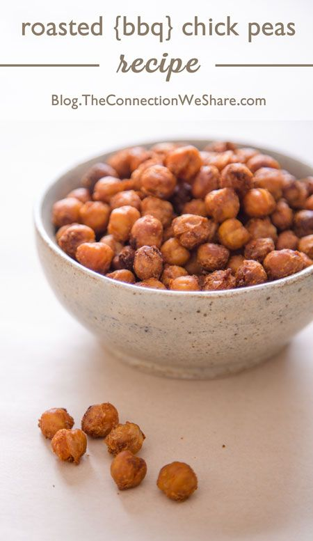 oven roasted bbq chick peas – recipe | The Connection We Share