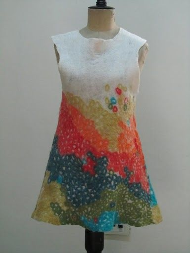 felted dress by evelyn.bendjeskov, via Flickr