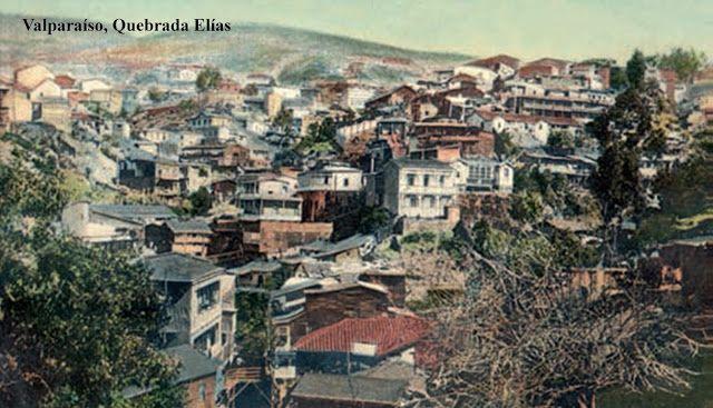 Imágenes de Chile del 1900: Valparaíso Parte 1 Quebrada Elías