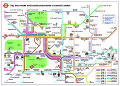 Central London Tourist and Bus map