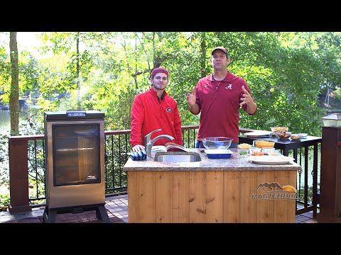 John McLemore and his son, John McLemore II, show you how to make Smokey Pimento Cheese Dip (http://recipes.masterbuilt.com/smokey...) and Smoked Sugary Bacon Wraps (http://recipes.masterbuilt.com/smoked...)