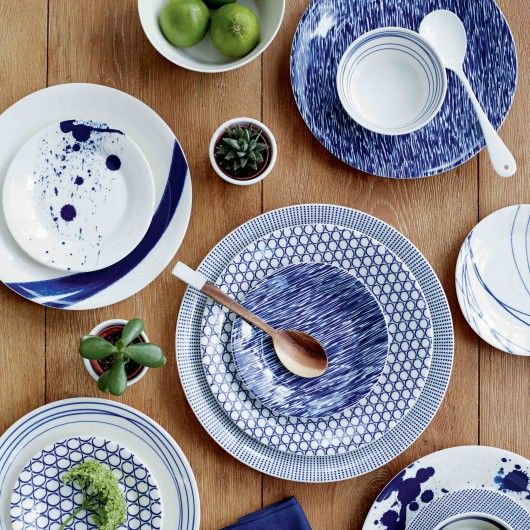 Set de 6 Assiettes à dessert 16 cm en porcelaine Pacific  - Royal Doulton
