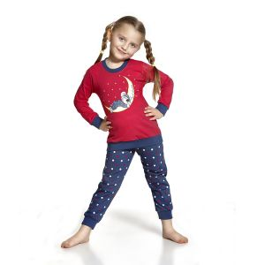 De Cornette Dreams 2 kinderpyjama van Corazonkids blauw met gestreepte broek. De Cornette kinderpyjama van CorazonKids met een gestreepte broek is erg mooi en hip.. Het shirt heeft een leuke opdruk. De Cornette kinderpyjama van CorazonKids is van goede kwaliteit.