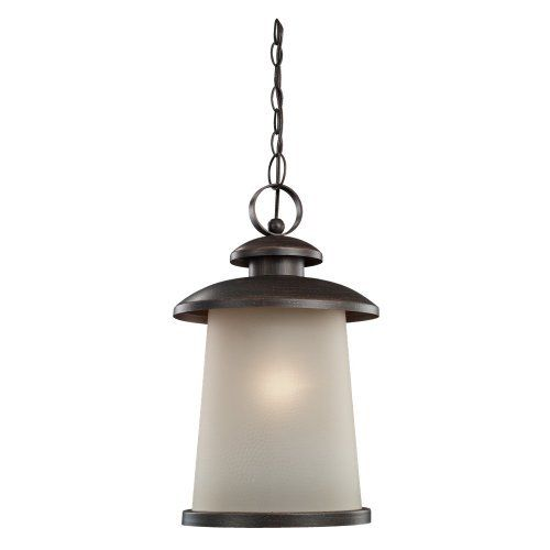Sea Gull Lighting 60330-08 Street Outdoor Pendant by Sea Gull Lighting. $147.87. 60330-08 is a one light outdoor pendant and is part of the 59th street collection. The 59th Street collection exemplifies loft style; raw, organic materials - exposed brick, metals and contrasts. Textural and bold, the Textured Rust Patina finish is tempered by a soft, hammered etched glass. The 59th Street collection from Sea Gull Lighting delivers an urban artisan feel with sleek, imp...