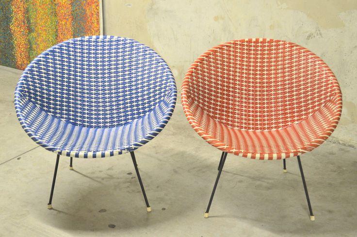 Vintage Fauteuils Scoubidou Des Annees 50 60 Design