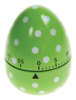 Egg Timer in Dotty Green | Kitchen Accessories Cute!