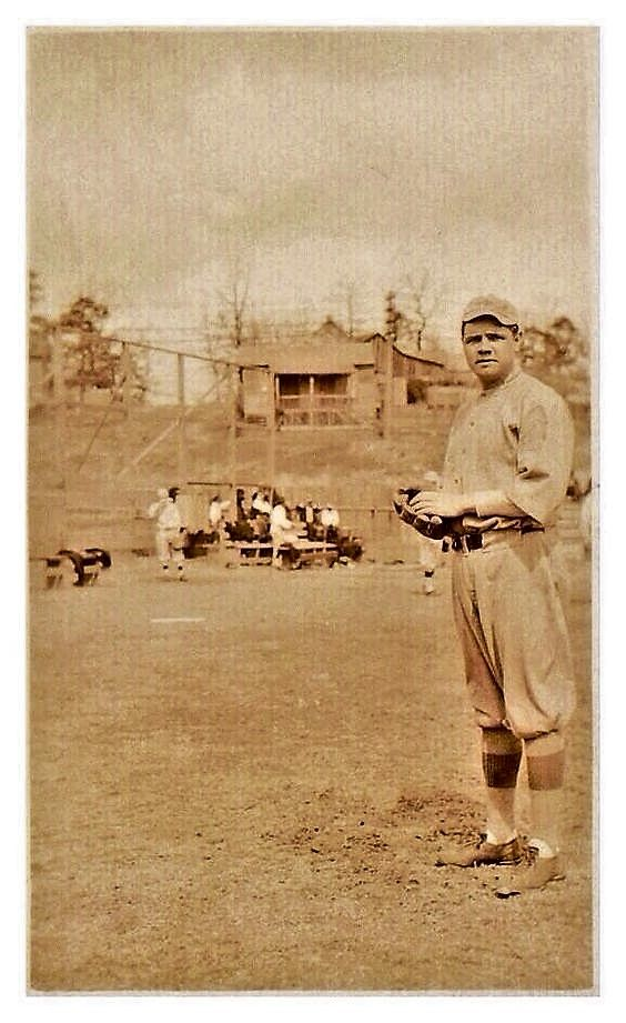 1915, A very young Babe Ruth at Spring Training in Arkansas before his 1st full season in MLB