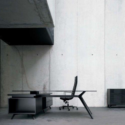 Escritorio de director / moderno / de cristal / de madera DR by Claudio Bellini Frezza