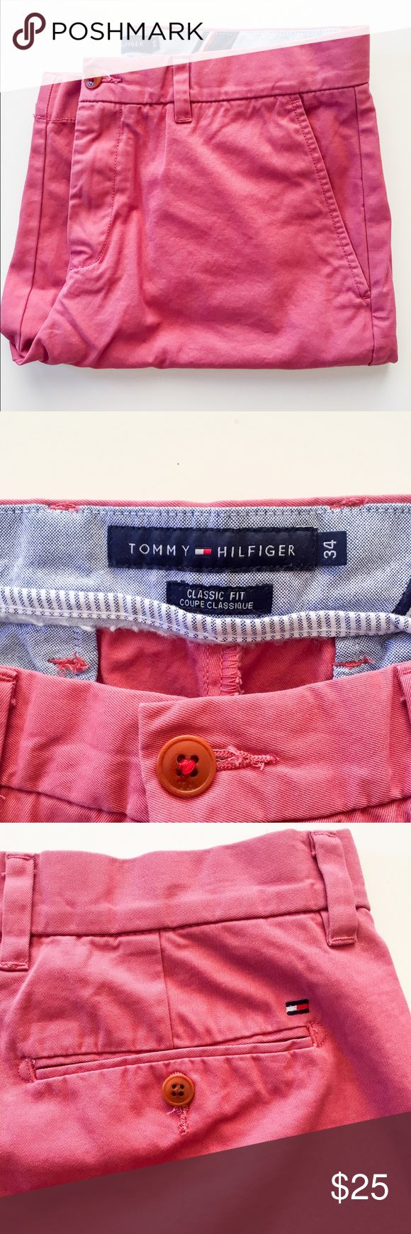 Tommy Hilfiger Men's Chino Shorts Tommy Hilfiger Men's Chino Shorts in burnt orange. NWOT. Size 34. Make an offer! Tommy Hilfiger Shorts Flat Front