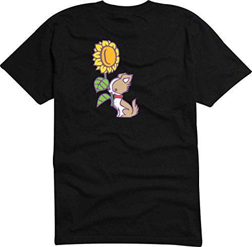 T-Shirt - Camiseta D872 Hombre negro con la impresión en color XL - diseño Tribal cómico / gráfico perro/ minúsculor Chihuahua estornino posado cabe girasol #camiseta #starwars #marvel #gift