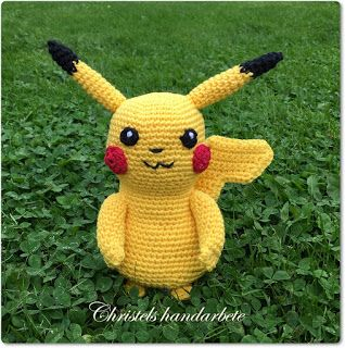 Christels handarbete: Virkad Pokemon Pikachu
