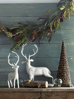 Woodland Christmas Decor - Rustic Christmas Decorations - Country Living