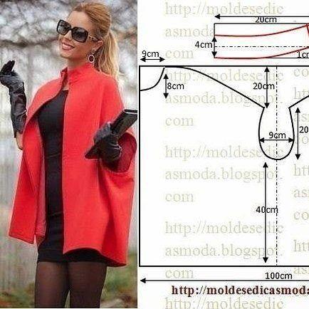 Пальто без рукавов (простая выкройка) / Простые выкройки / ВТОРАЯ УЛИЦА