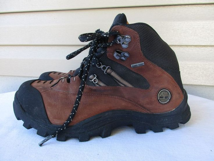 Timberland Gore Tex Waterproof Hiking boots 9 M brown Ankle #Timberland #HikingTrail
