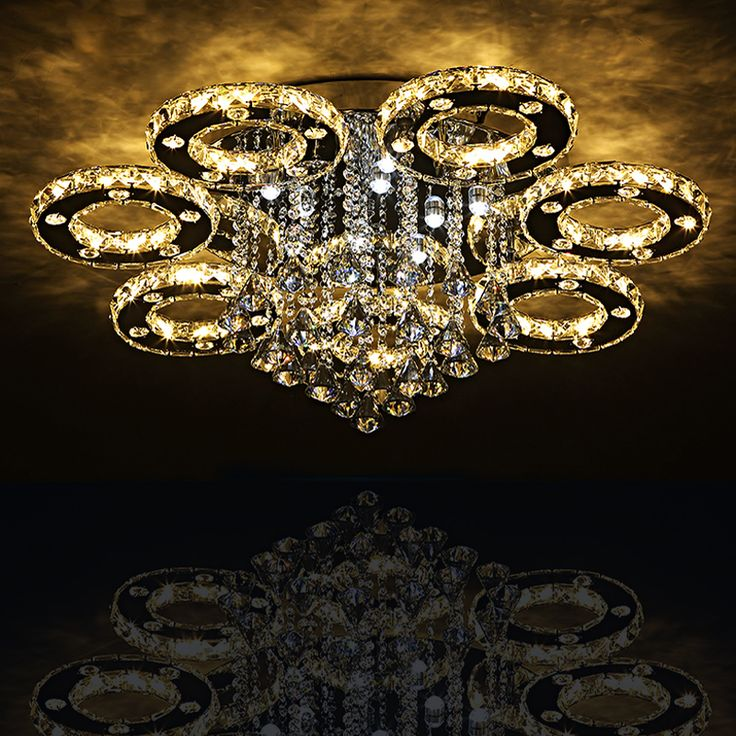 Modern Led Crystal Ceiling Lights For Living Room Luminarias Para Sala Fixtures Bedroom Lighting With