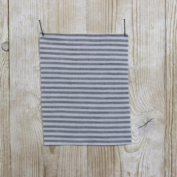The Fabric Store Merino Jersey Interlock Dove Grey Stripe