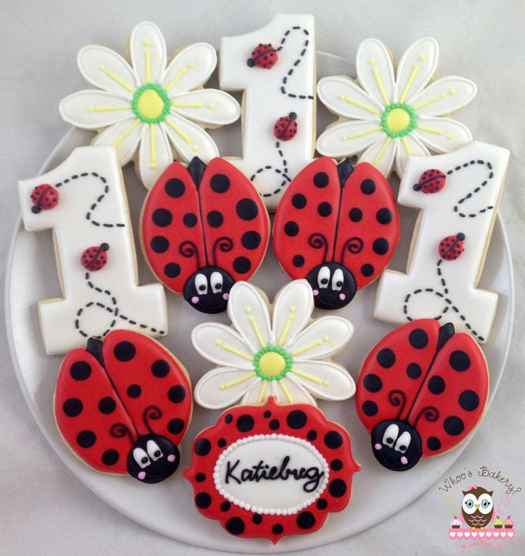 Ladybug Cookies by Whoosbakery on Etsy