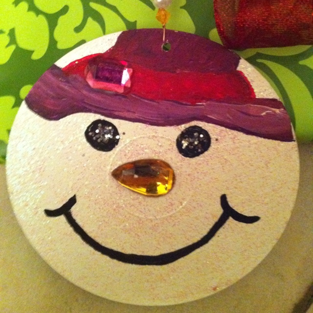 Ornament made from old cd.