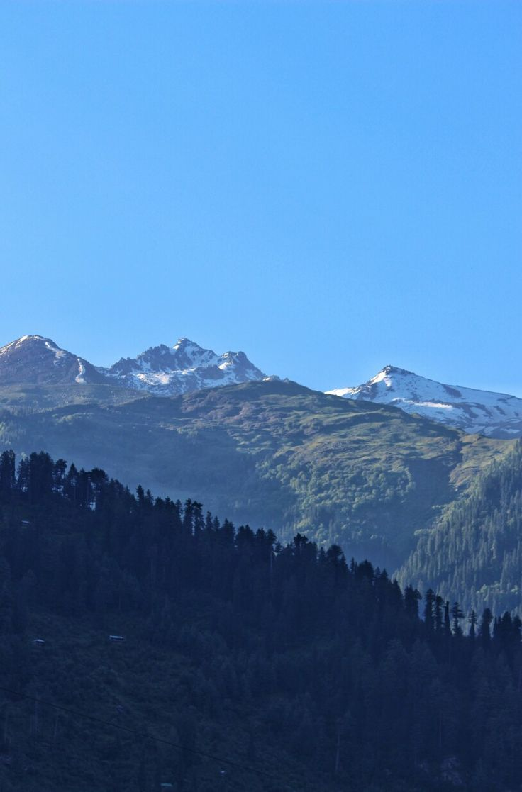 View from our hotel in  Manali, Himachal Pradesh