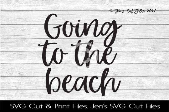 Going To The Beach SVG Cut File