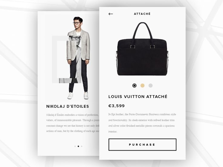 Made a product view for the Fashion-app I experimented with yesterday.   Ful pixels attached.
