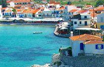 Kokkari op het eiland Samos