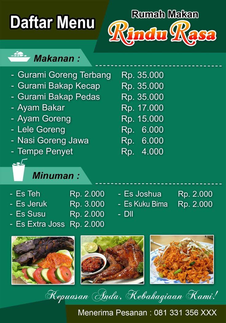 Image result for Daftar Menu Makanan