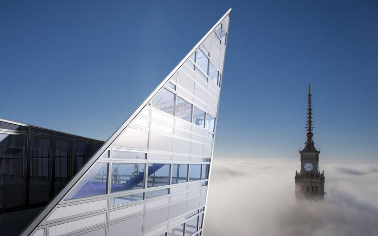 ZŁOTA 44 #Złota44 #Warsaw #Poland #architecture #skycraper #modernarchitecture #city #Libeskind