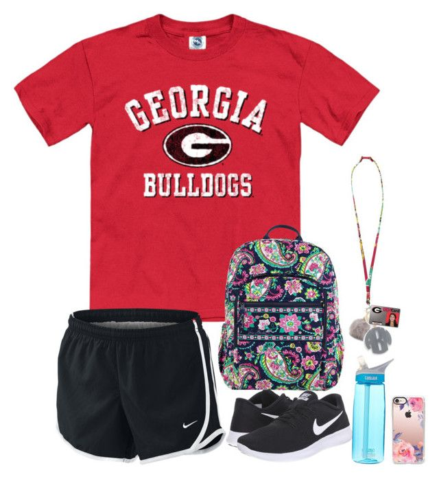 """""""College Outfit #2"""" by preppy-college ❤ liked on Polyvore featuring NIKE, Vera Bradley, Aéropostale, Moon and Lola, CamelBak and Casetify"""