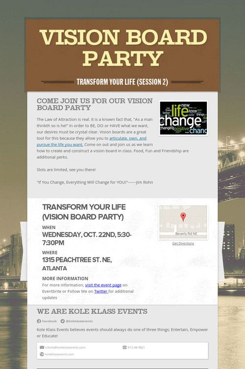 Vision Board Party | Business Branding and Marketing ...