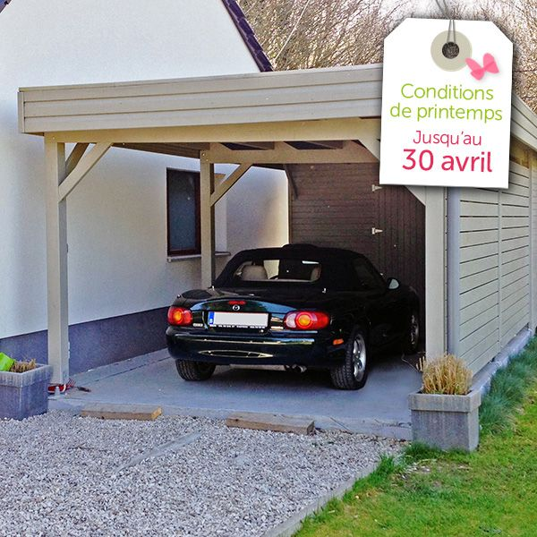 11 best Garage et carport en bois images on Pinterest Garage - Dalle Pour Parking Exterieur