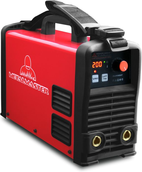 Inverter Welder ARC TIG Miniarc 200ST - Demand for inverter welding machines and the competition in this segment of the market has never been greater and the consumer has the advantage with manufacturers bundling features in order to carve out their niche.To succeed in this segment we have launched our latest inverter welder development, the Metalmaster Miniarc 200ST aimed at the commercial segment with features that will impress and a price that will giveyouchange from