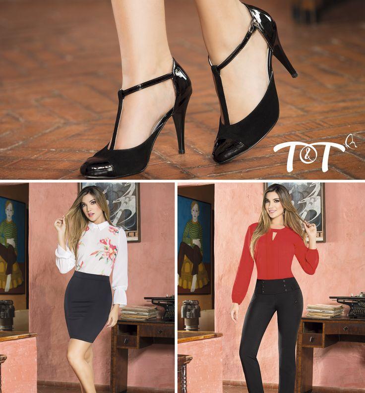 Empieza la semana con la mejor actitud. Aquí te dejamos dos outfits T&T que puedes lucir sin problema y que te harán ver sensacional, combina cada look con nuestros zapatos Golden, disponibles en tallas: 35-36-37-38-39 Realiza tu compra ahora en www.jeanstyt.com #TytJeans #YoVistoTyt