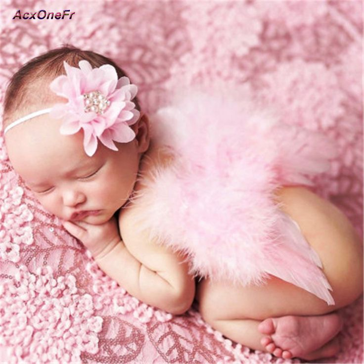 >> Click to Buy << Newborn Baby Photography Props Infant Girl Costume Crochet Hat Outfit Princess Angel Wing With Flower Headband Caps Real WM-020 #Affiliate